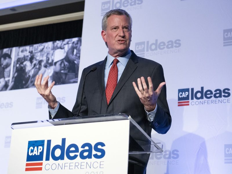New York Mayor Bill de Blasio is supporting a new proposal for specialized schools which has met strong opposition. Photo: AFP/Ron Sachs/CNP