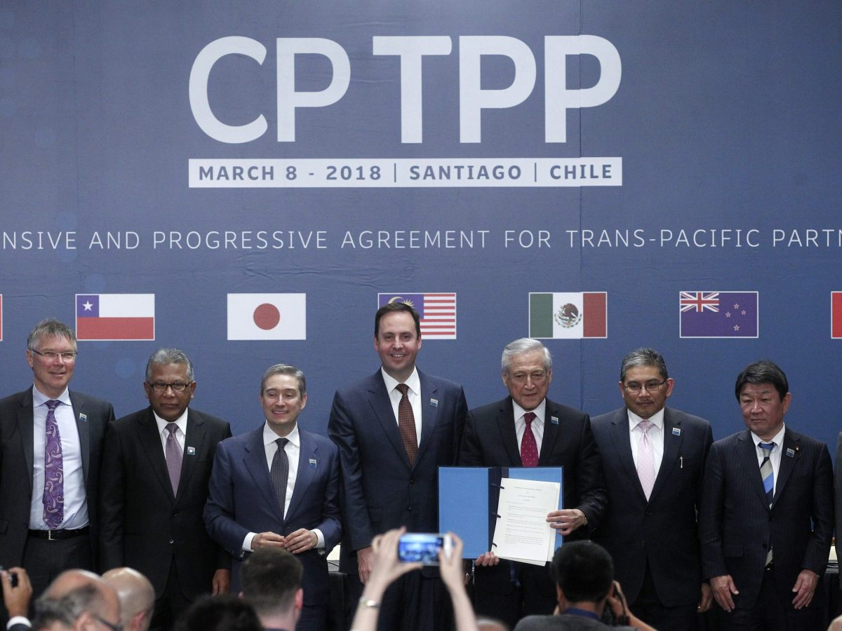 Representatives from the 11-nation Pacific trade pact the Comprehensive and Progressive Agreement for Trans-Pacific Partnership meet in Santiago on March 8, 2018. Photo: AFP/Claudio Reyes