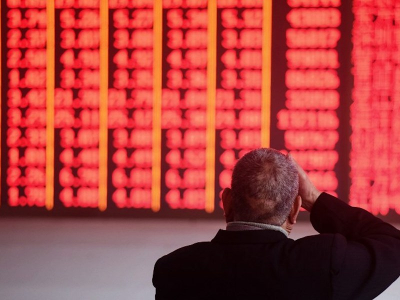 Stocks markets in China had a mini surge after the trade war truce at the weekend, heading into red territory, which means they posted gains. Photo: AFP