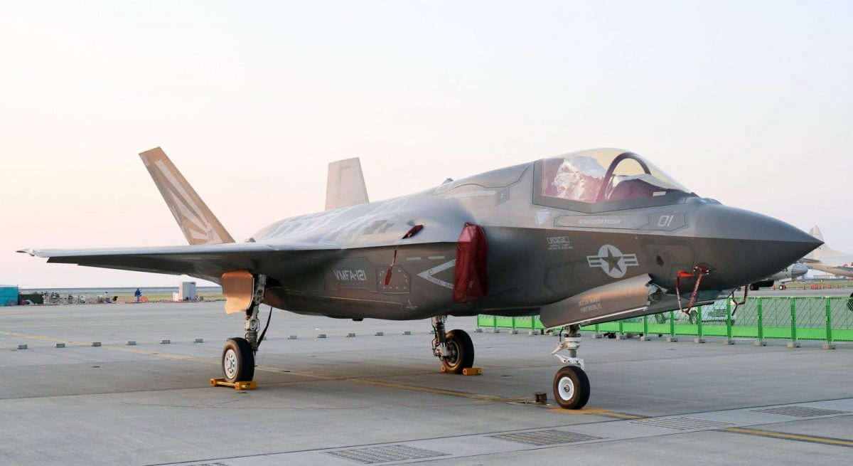 A US F-35B on display during a friendship event at Iwakuni Air Base in Iwakuni City, Yamaguchi Prefecture on May 5, 2018. Photo: AFP/The Yomiuri Shimbun