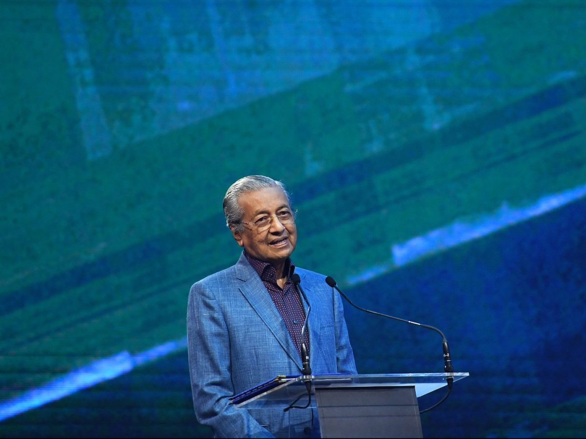Malaysia's Prime Minister Mahathir Mohamad speaks during the official launching ceremony of the 2019 Proton X70 SUV in Kuala Lumpur on December 12, 2018. Photo: AFP/Mohd Rasfan
