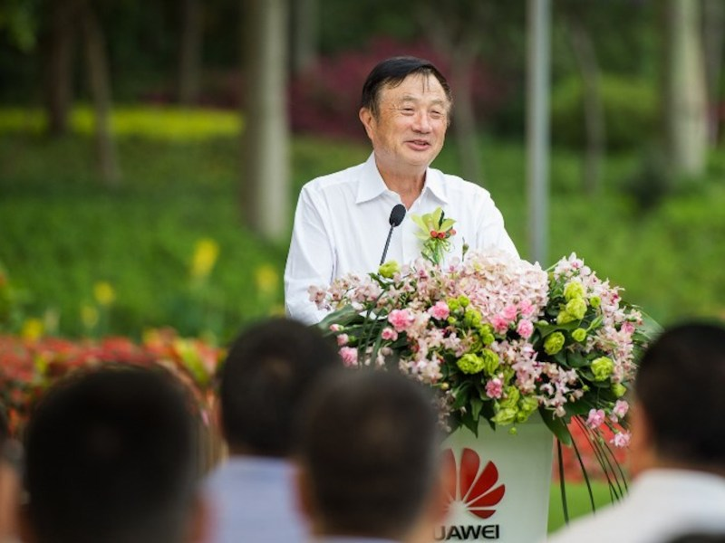 Founder Ren Zhengfei's connections were useful in building the Chinese conglomerate Huawei. Photo: AFP