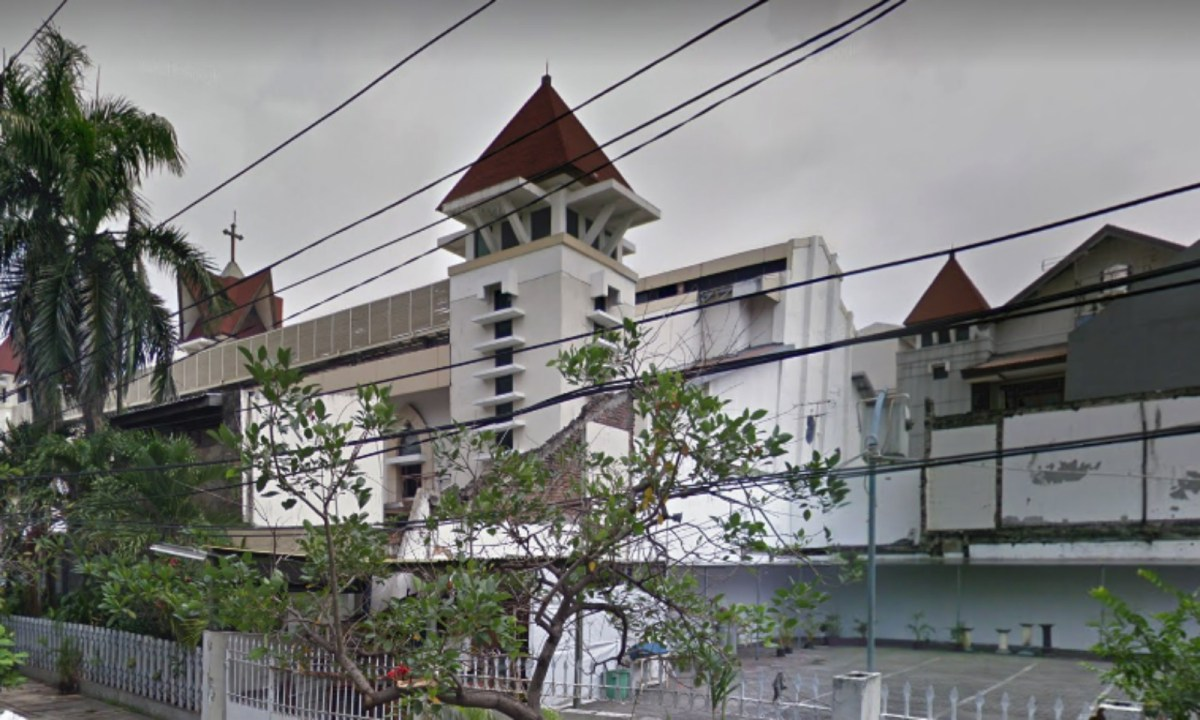 Santa Maria Church in Surabaya, East Java. Photo: Google Maps