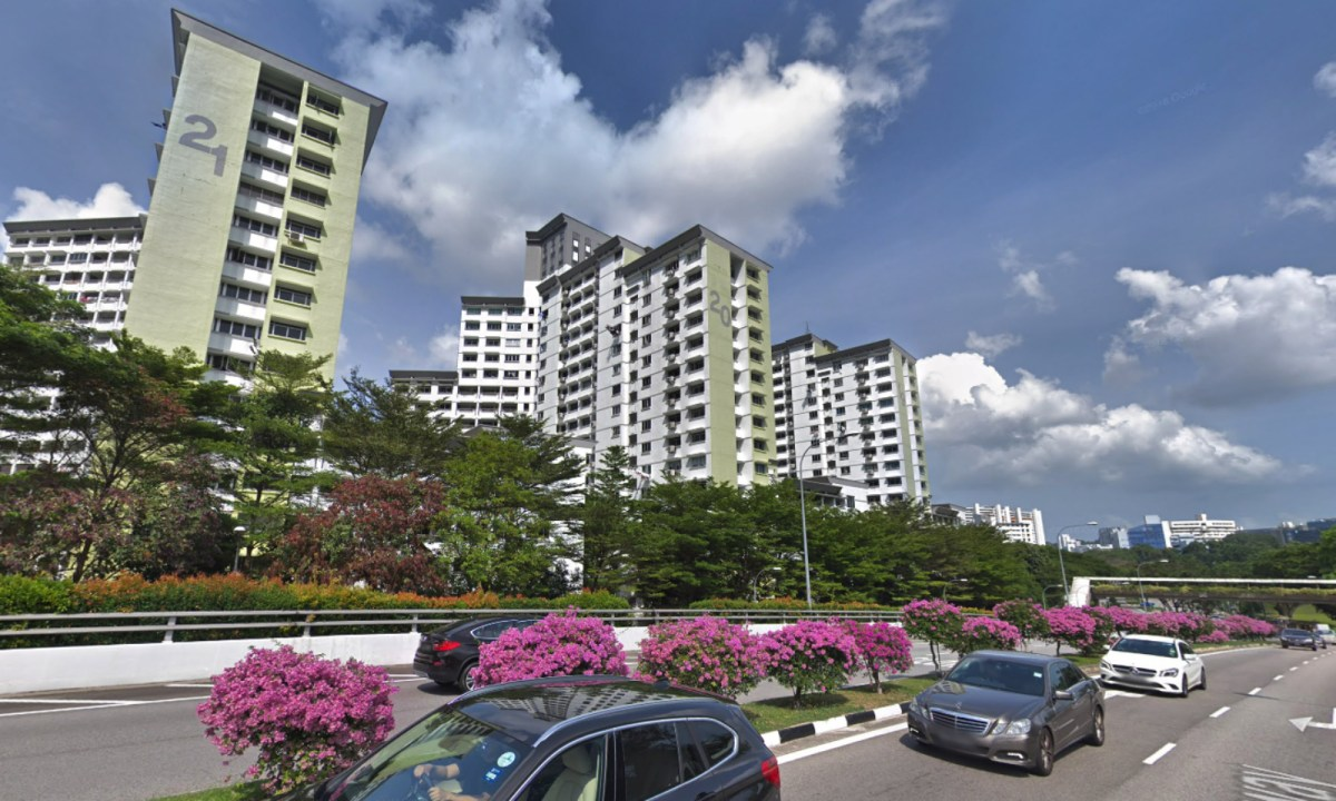 Block 20 on Queen's Close in Singapore. Photo: Google Maps