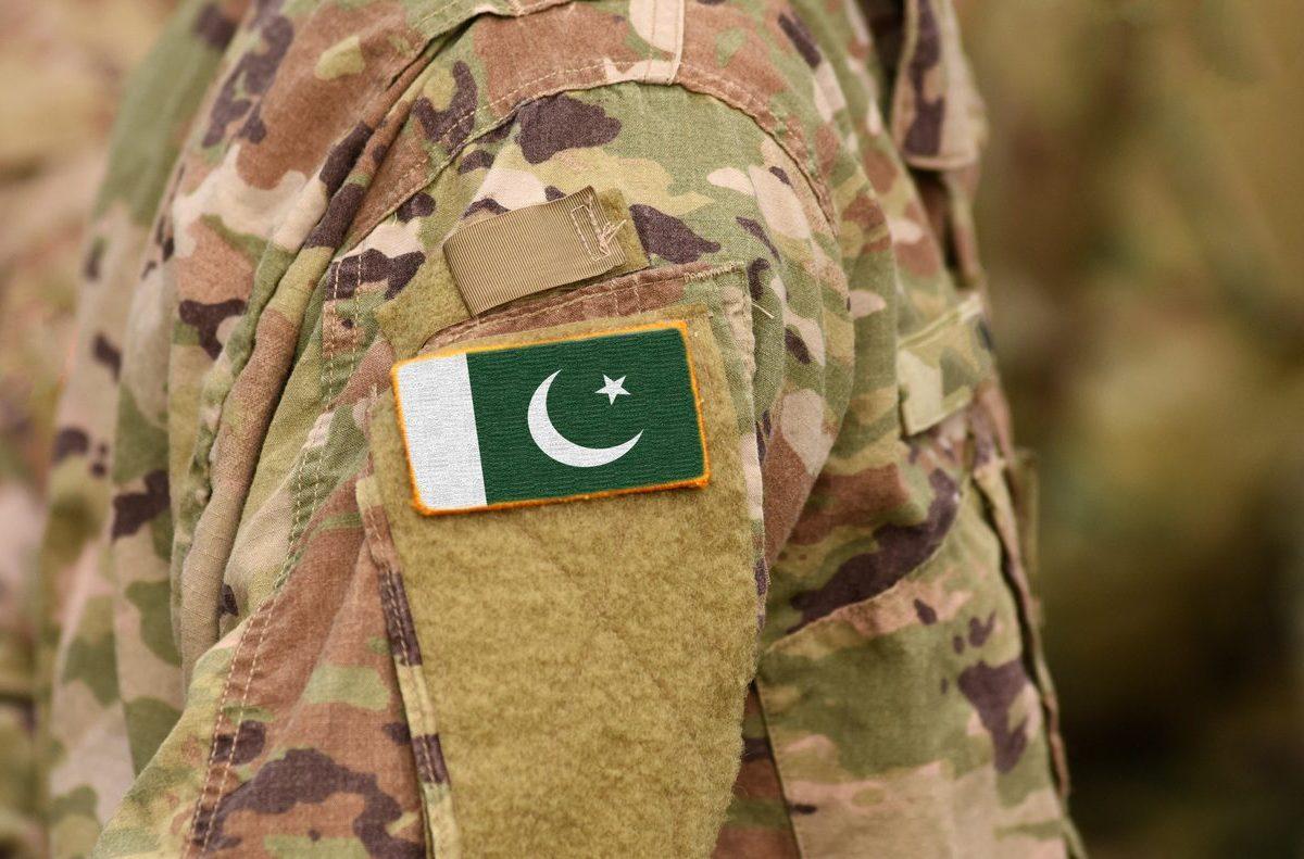 Pakistan flag on soldier's uniform. Photo: iStock