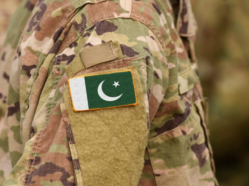 Pakistan flag on soldier's uniform. Photo: iStock