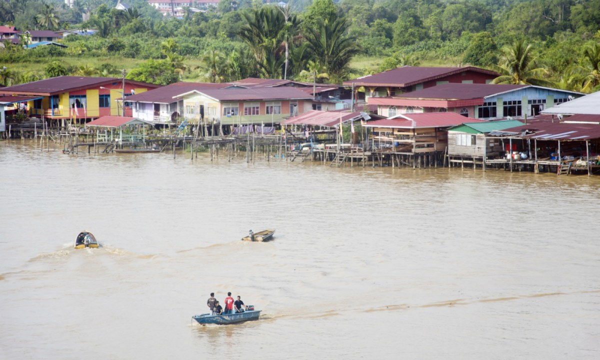 Limbang river between Brunei and Malaysia. Photo: iStock.