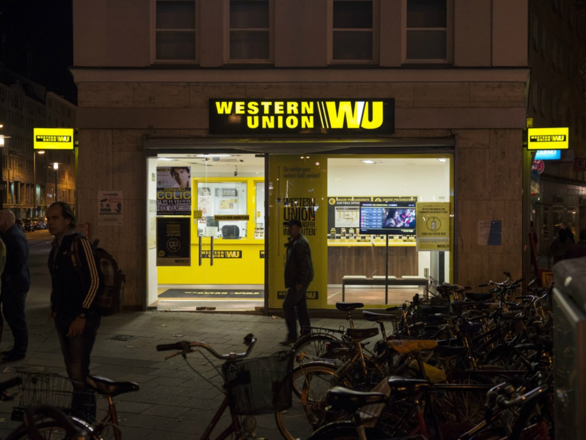 Western Union, a prominent money transferring firm. Photo: iStock.
