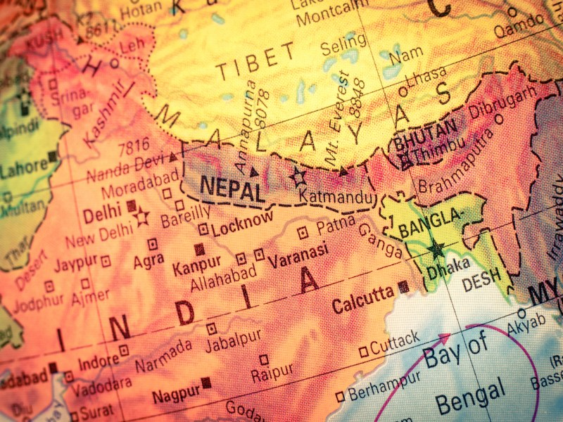 Map of Nepal and Bhutan: iStock