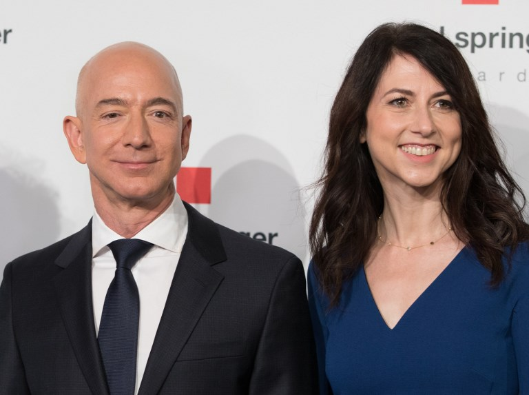 Amazon founder Jeff Bezos and his wife MacKenzie Bezos met while working at a hedge fund. Photo: iStock