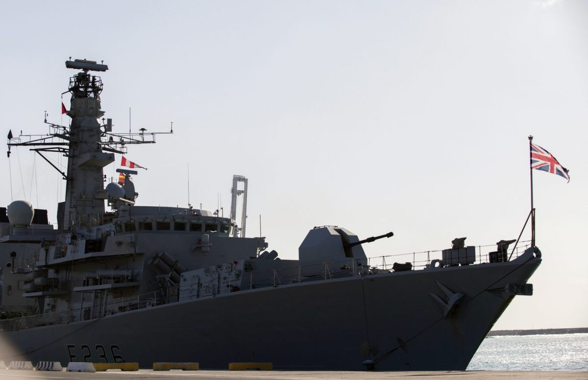 British warship HMS Montrose is now making its way across the Pacific Ocean on its way to New Zealand. Photo: AFP/STR