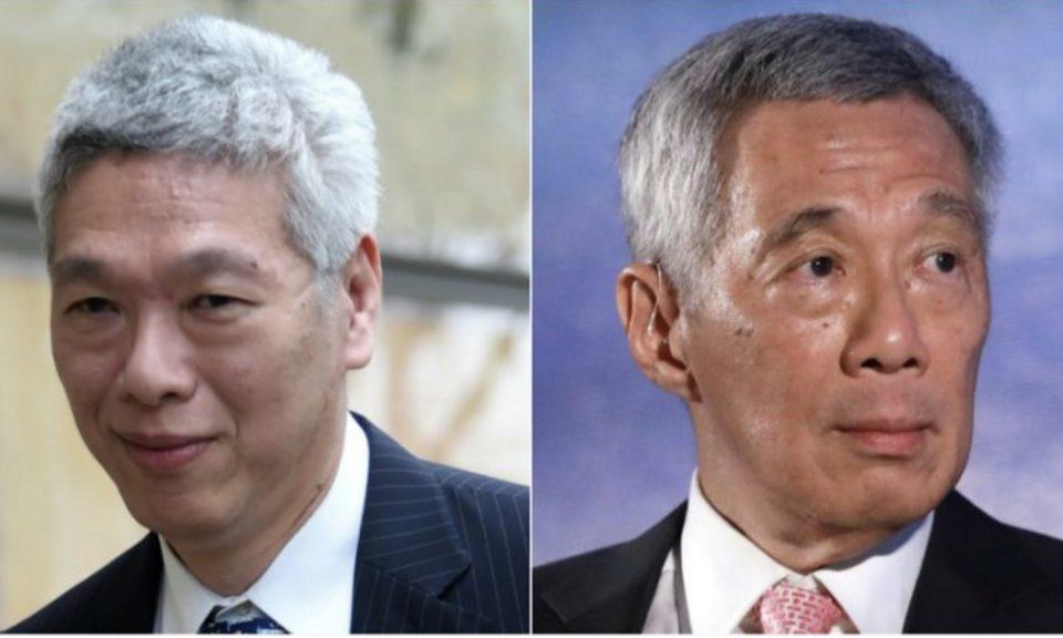 李顯龍(左)和其胞弟李顯揚(右)。相片:AFP / Facebook
