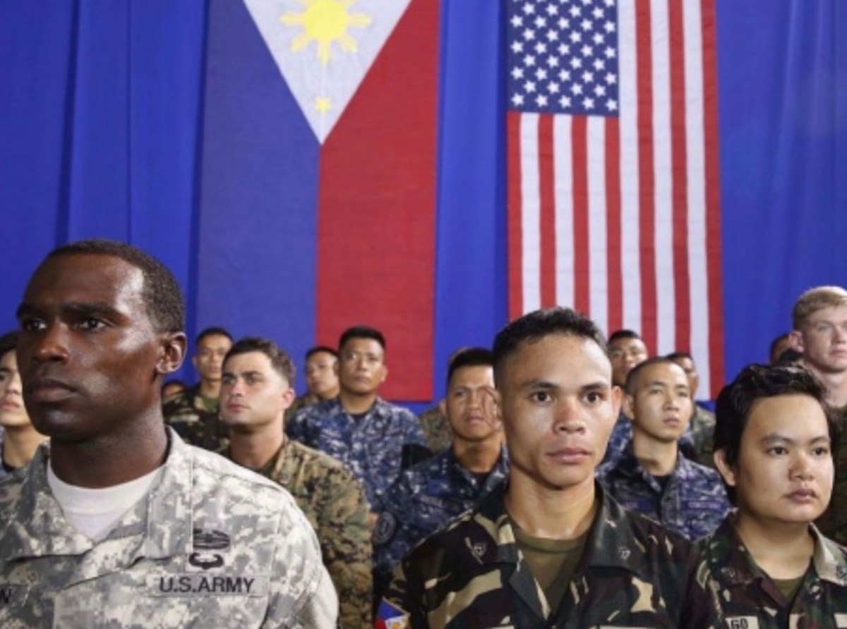 US and Philippine troops at a joint exercise event in a file photo. Photo: Reuters