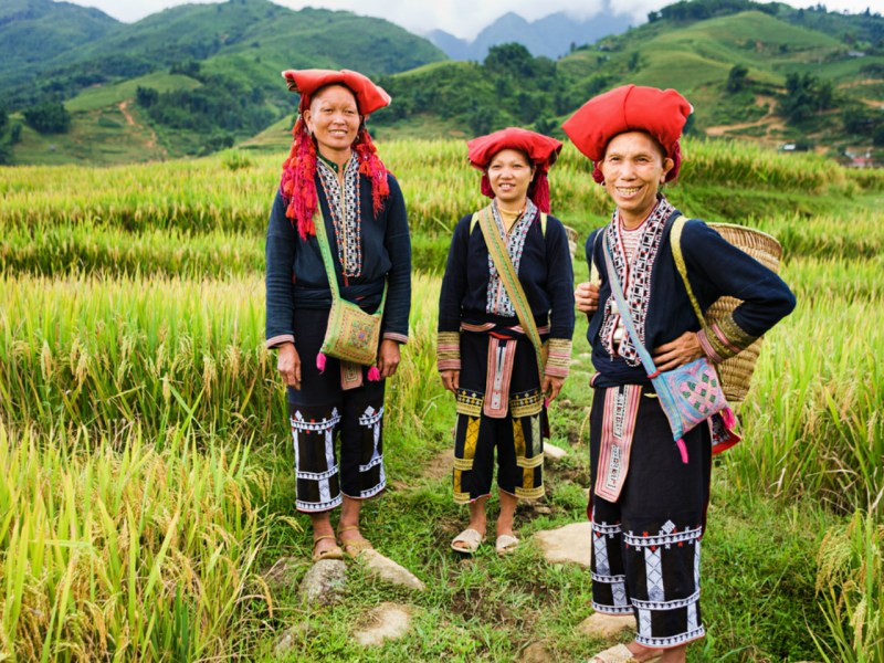 Members of a Red Dao hill tribe, one of the ethnic minorities in Vietnam. Photo: iStock.