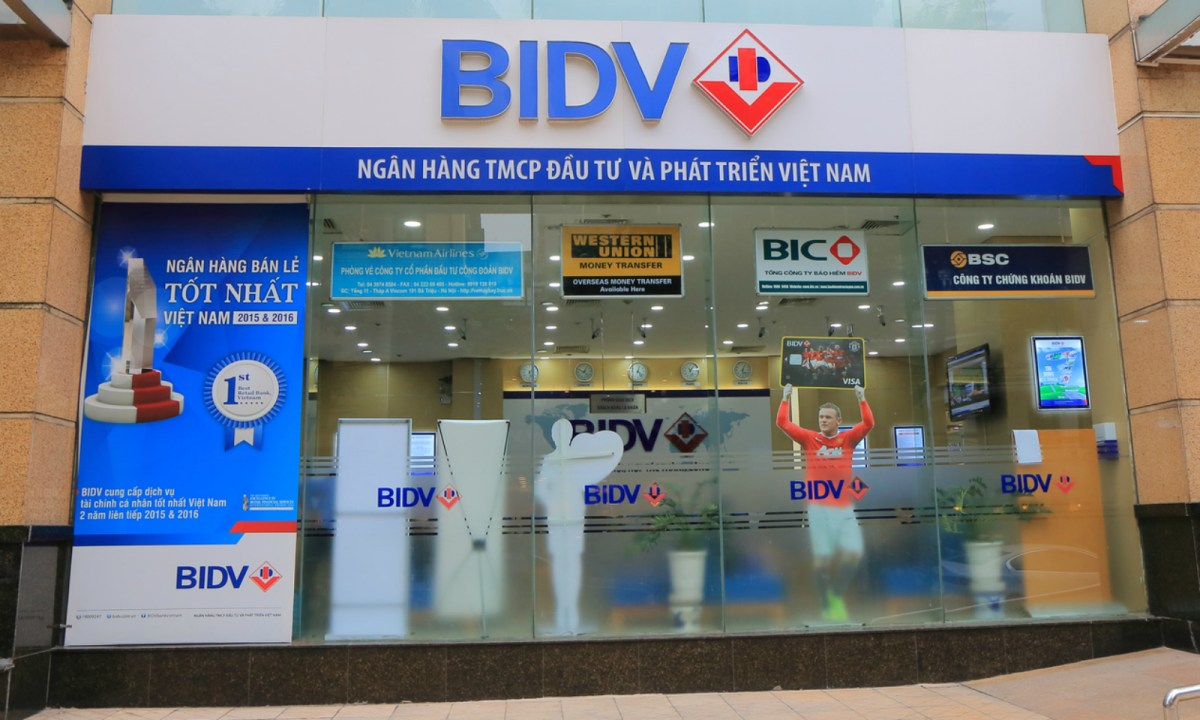 A branch of BIDV, which is  the target of corruption allegations. Photo: iStock.