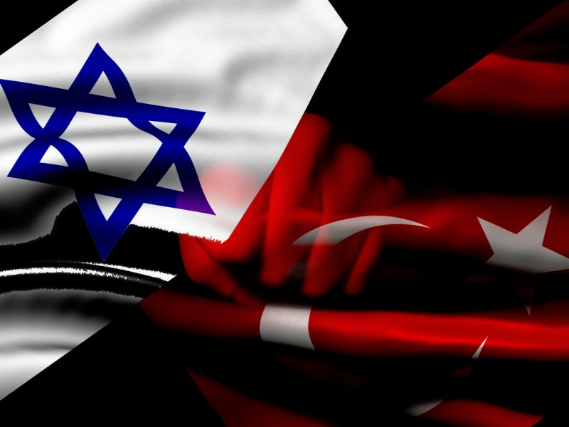 israel and Turkey flags. Image: iStock