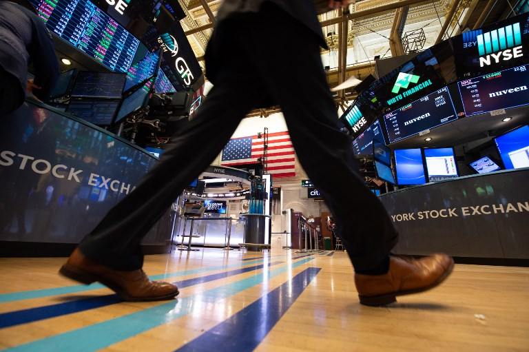 The floor of the New York Stock Exchange. Photo: AFP/Bryan Smith