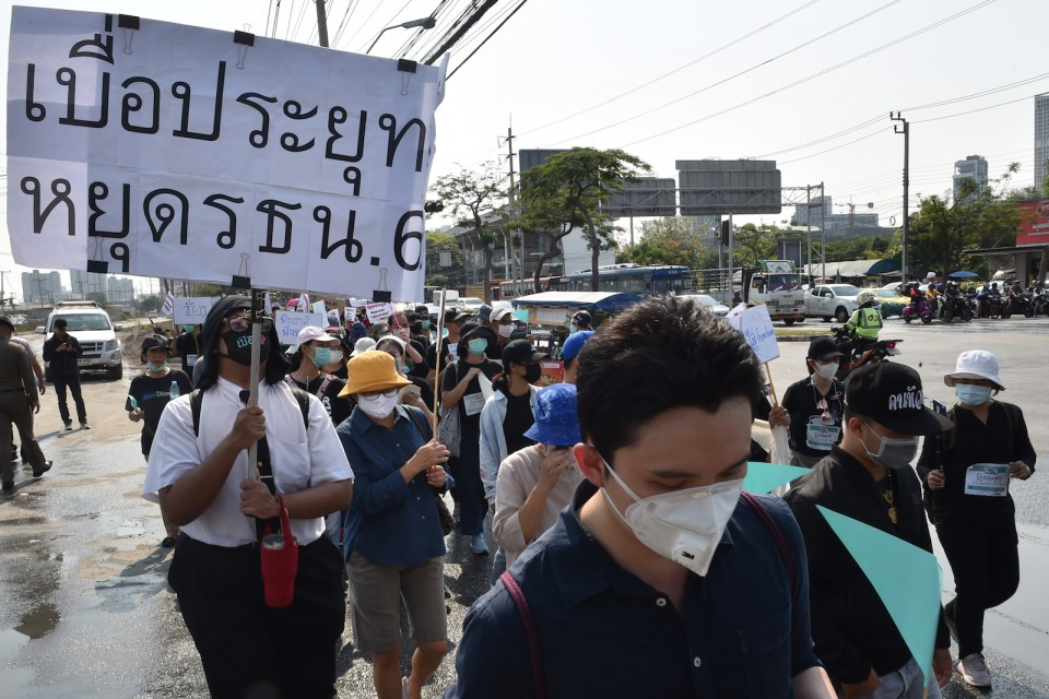 Thailand Coronavirus Protest Covid 19 March 13 2020