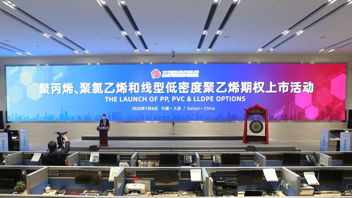 Dalian bourse launches chemical options