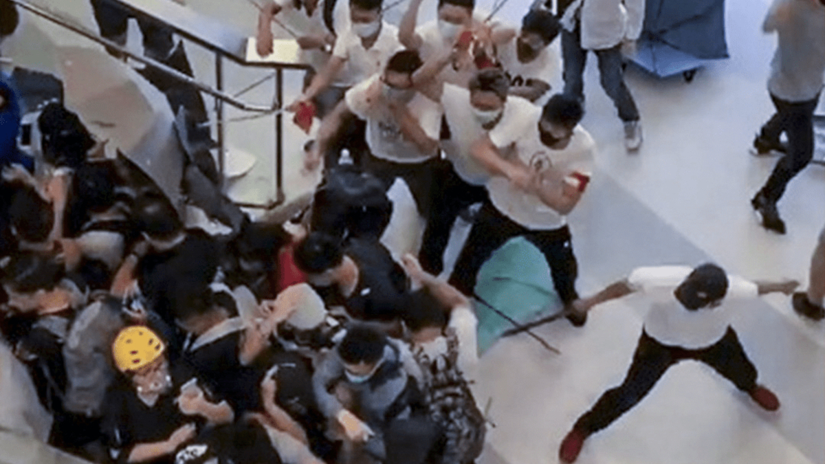 Triad-linked assailants jailed for HK protest attack