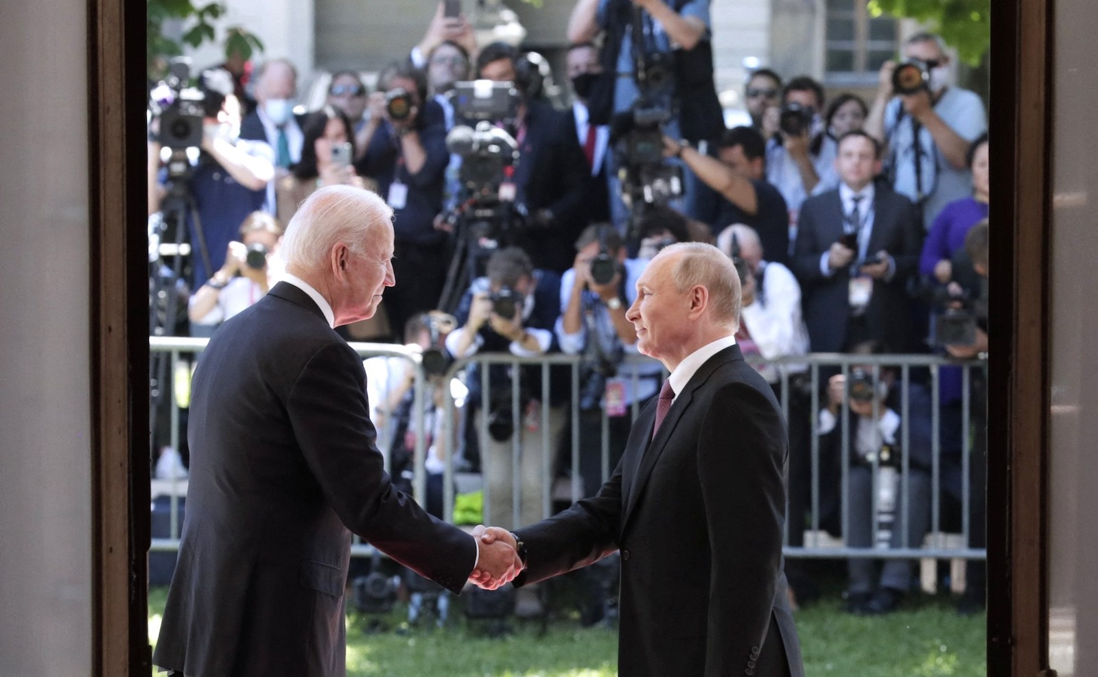 Russian President Vladimir Putin and US President Joe Biden hold their summit in Geneva. Photo: AFP / EyePress News