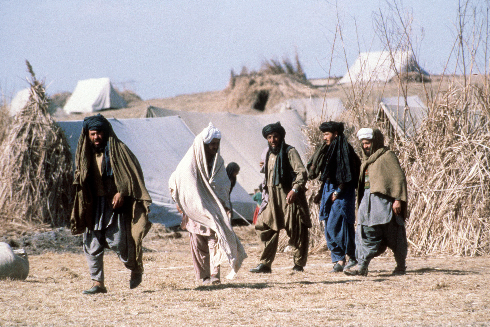 In February 1980 Afghan refugees who have fled the area of Kabul in December 1979, are shown in the Aza Khel refugee camp near Peshawar in Pakistan. Photo: AFP / EPU