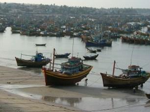 Gaggle of fishing boats