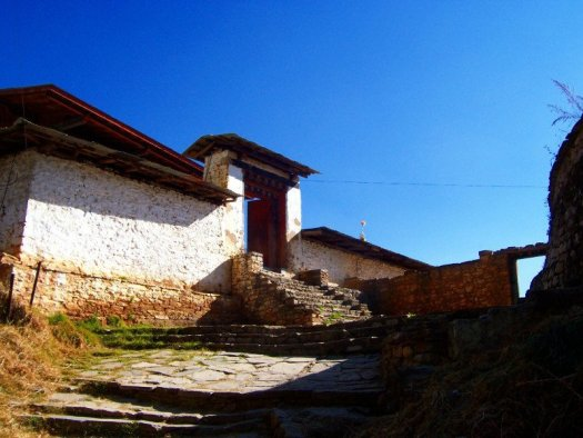 Grand entrance to one of the Best Places To Visit In Thimphu Bhutan, an ancient temple named Changangkha Lhakhang