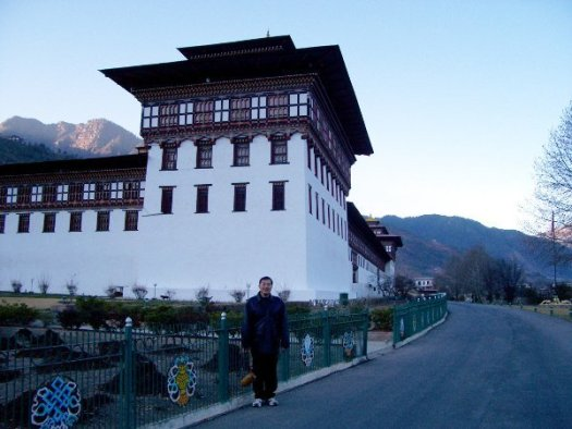 One of the Best Places to Visit in Thimphu Bhutan - Timotheus outside Tashichho Dzong