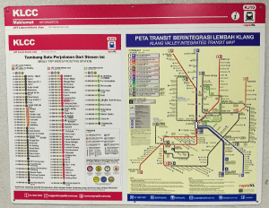 Map of train system to get to one of the Best Places To Visit In Kuala Lumpur - Batu Caves