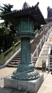 What To See In Hong Kong - Large Lamp Post along Steps to Tian Tan Buddha