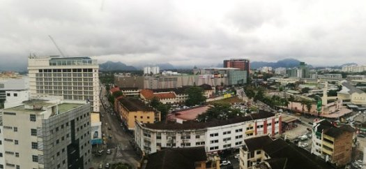 Ipoh Hotels Review - Hotel Excelsior Ipoh - View of City from Room