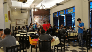 Customers at one of the dining areas