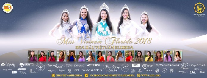 Miss Vietnam Florida Pageant 2018 Free Admission