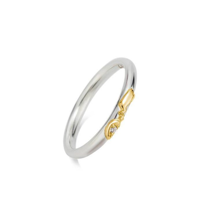 The Pikachu Ladies' Pair Ring, made of silver and K18 yellow gold. The base version retails for 28,000 yen ($278.39 US) including tax and comes inset with a cubic zirconium, although other gemstones are available for various prices.