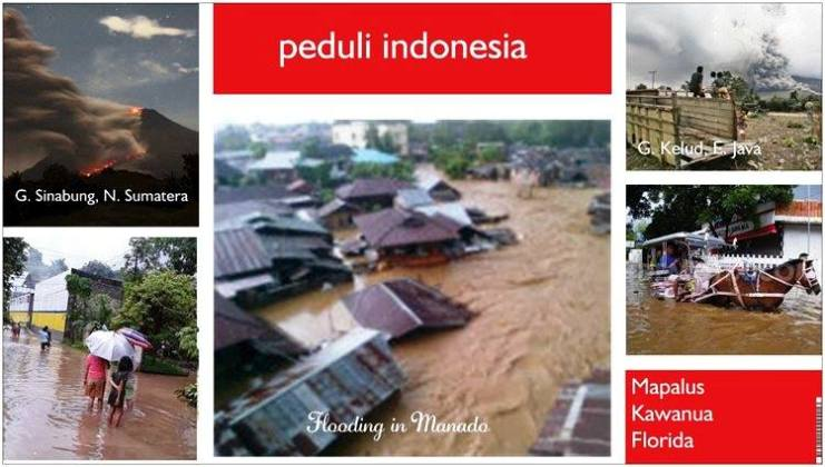 Flood and volcano's in Indonesia