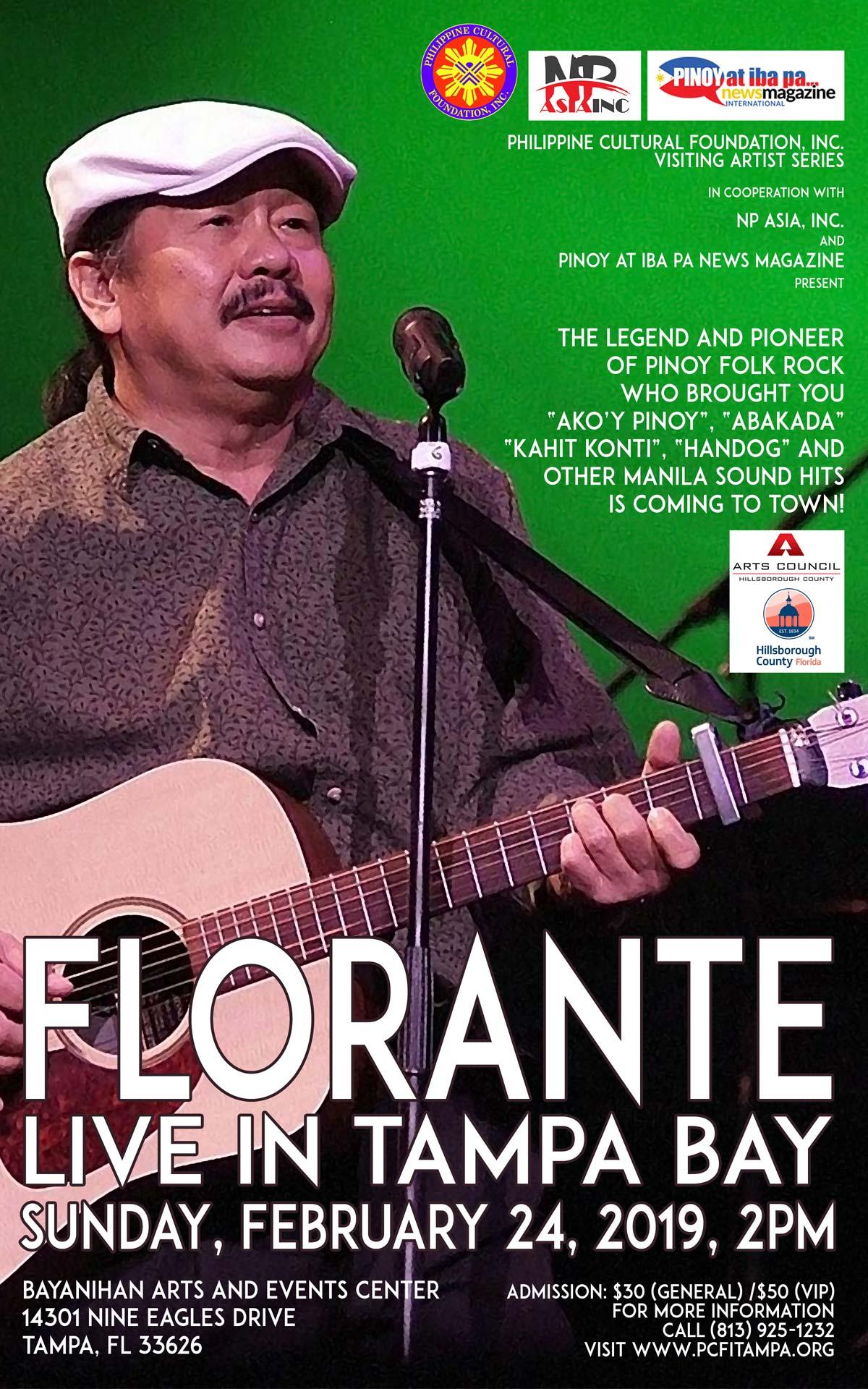 Florante Live in Tampa Bay