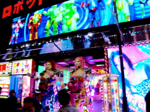 Robot restaurant and dinner show in Shinjuku's Kabukicho red light district