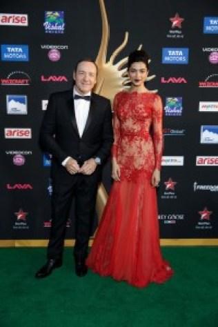 Kevin Spacey and Deepika Padukone