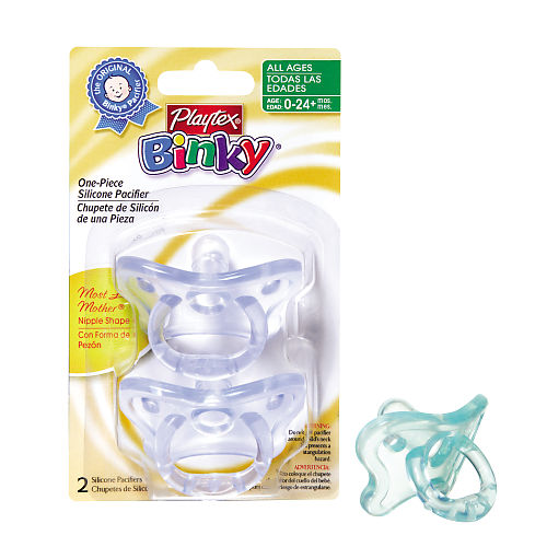 playtex binky one piece silicone pacifier