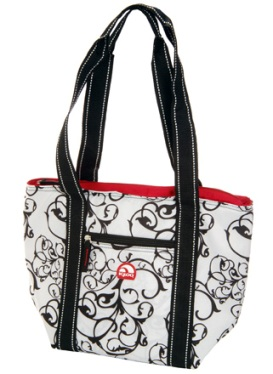 Igloo Cooler Tote 16 B-W Damask