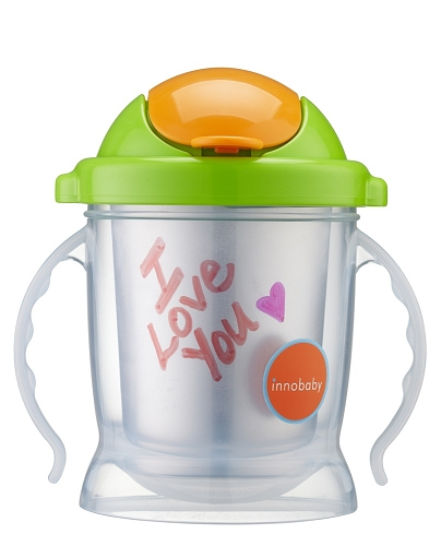 Sippin' Smart ez flow stainless sippy - green
