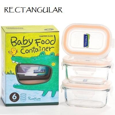 yumyum baby food container glasslock rectangular