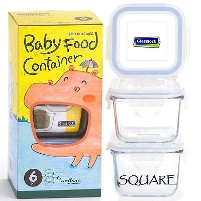 yumyum baby food container glasslock square