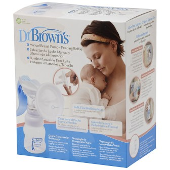drbrowns manual breast pump plus feeding bottle packaging