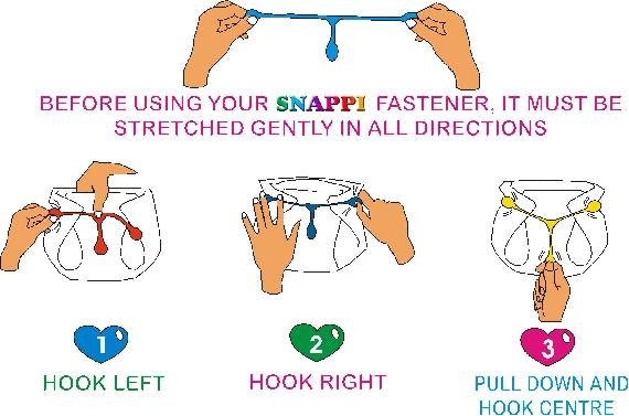 Snappi Diaper Fastener How to Use