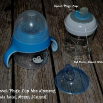 Exchangable Avent Pingu Cup and Natural Bottle