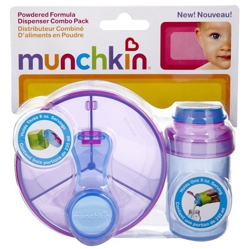 Munchkin Powdered Formula Dispenser Combo Pack - Purple Blue