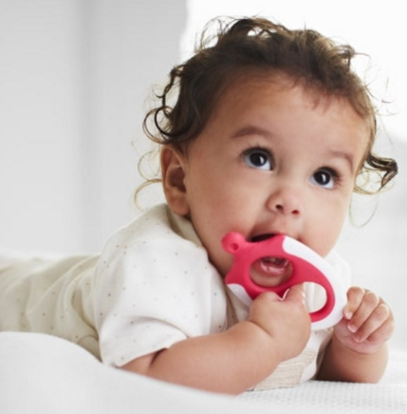 Tommee Tippee Easy Reach Teether Stage 3 in use