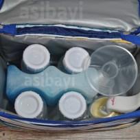 Kompartemen bawah: botol, icegel/icepack, corong, tuas, dll